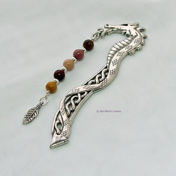 Dragon Bookmark with Gemstone Choice