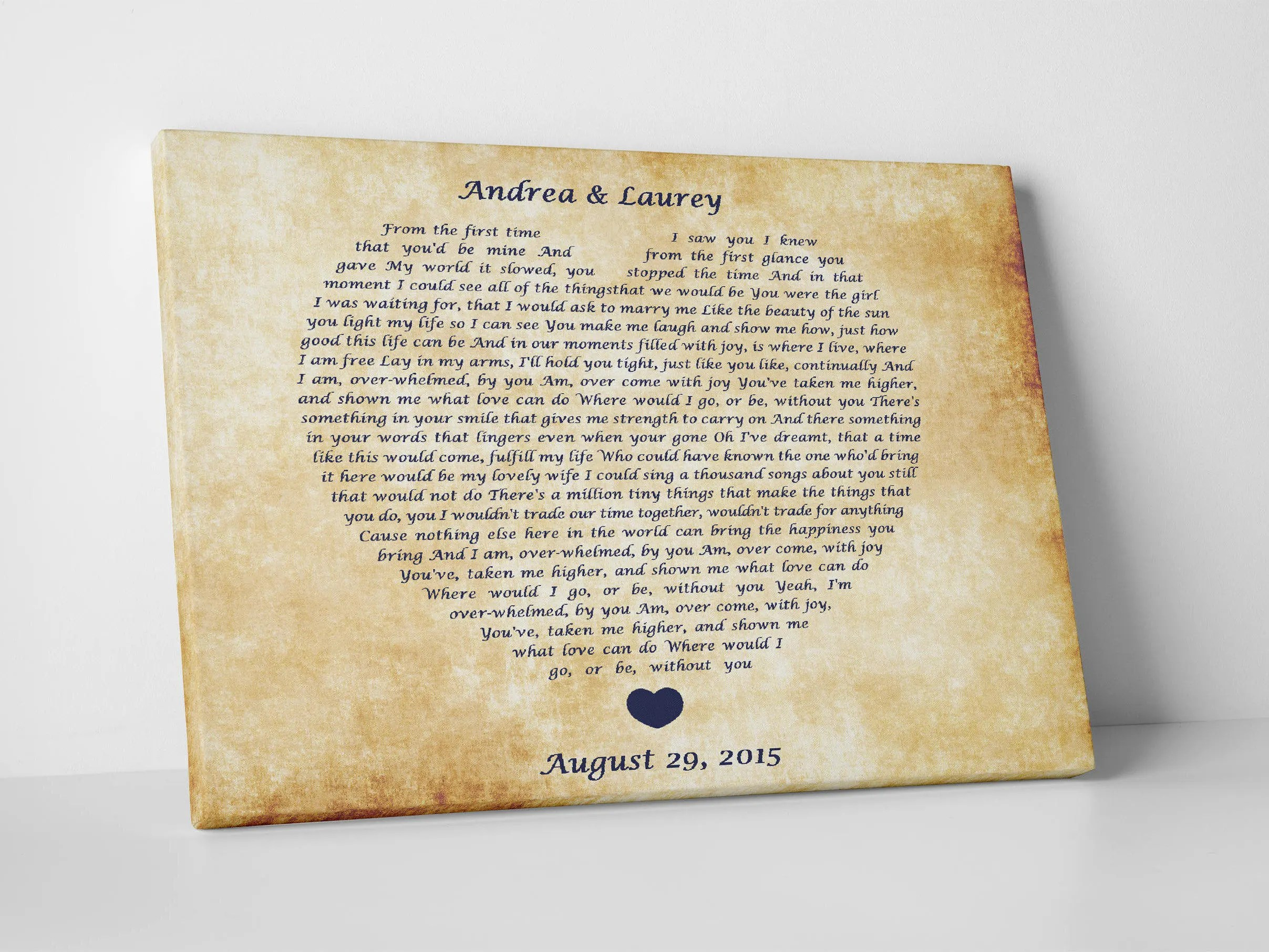 Personalized 7th Wedding Anniversary Gift For Husband And