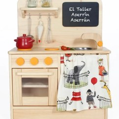 Wooden Toy Kitchen Island Butcher Block Top Waldorf Child S Wood Etsy Image 0