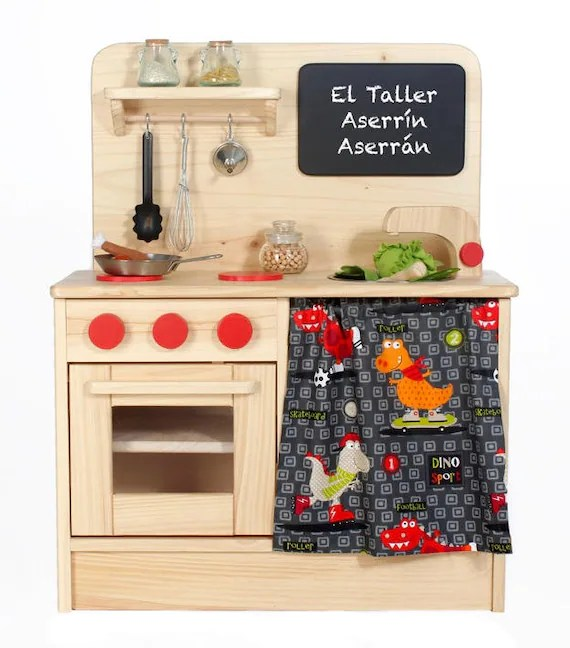toy kitchens commercial kitchen tables children s customised natural wooden etsy image 0