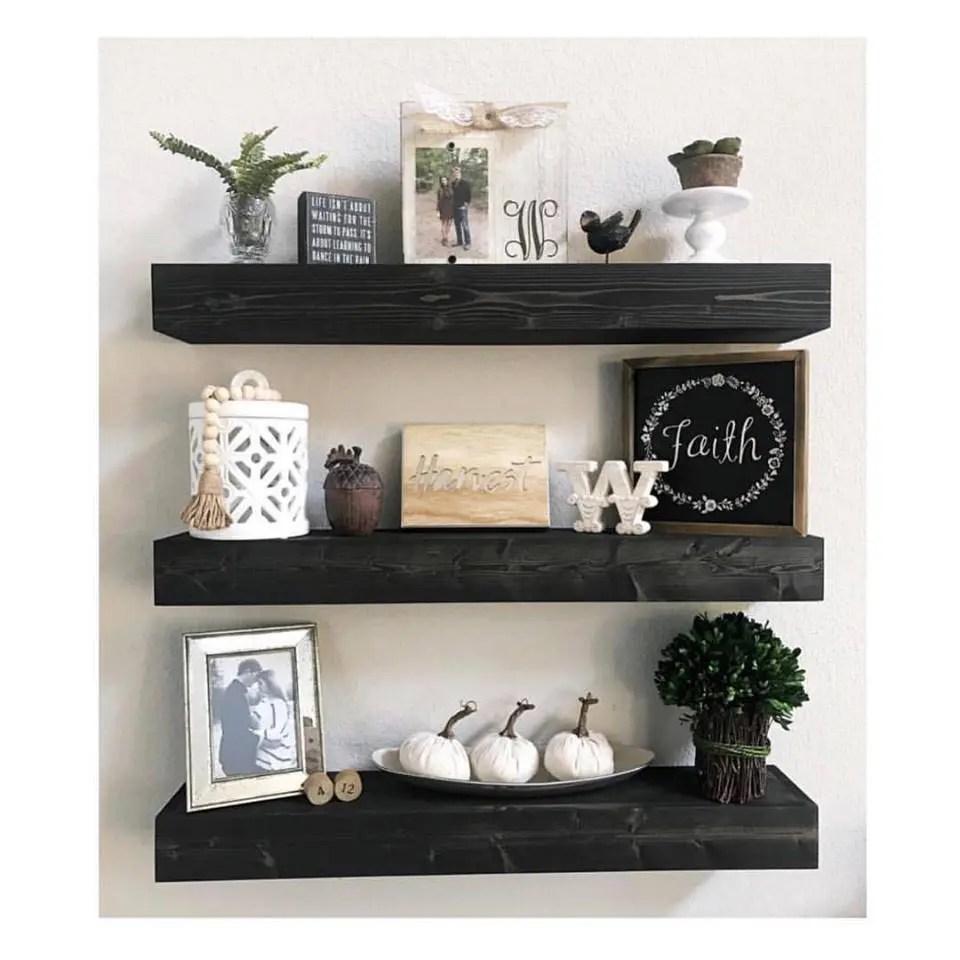 kitchen shelf decor kmart etsy floating shelves nursery bathroom rustic farmhouse