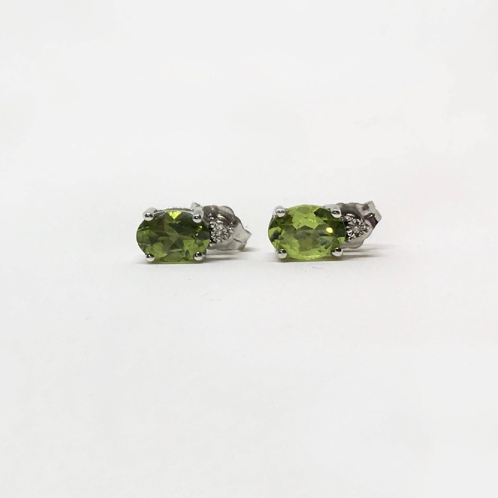 925 Silver Natural Peridot 1 80 Ct Earrings Appraised