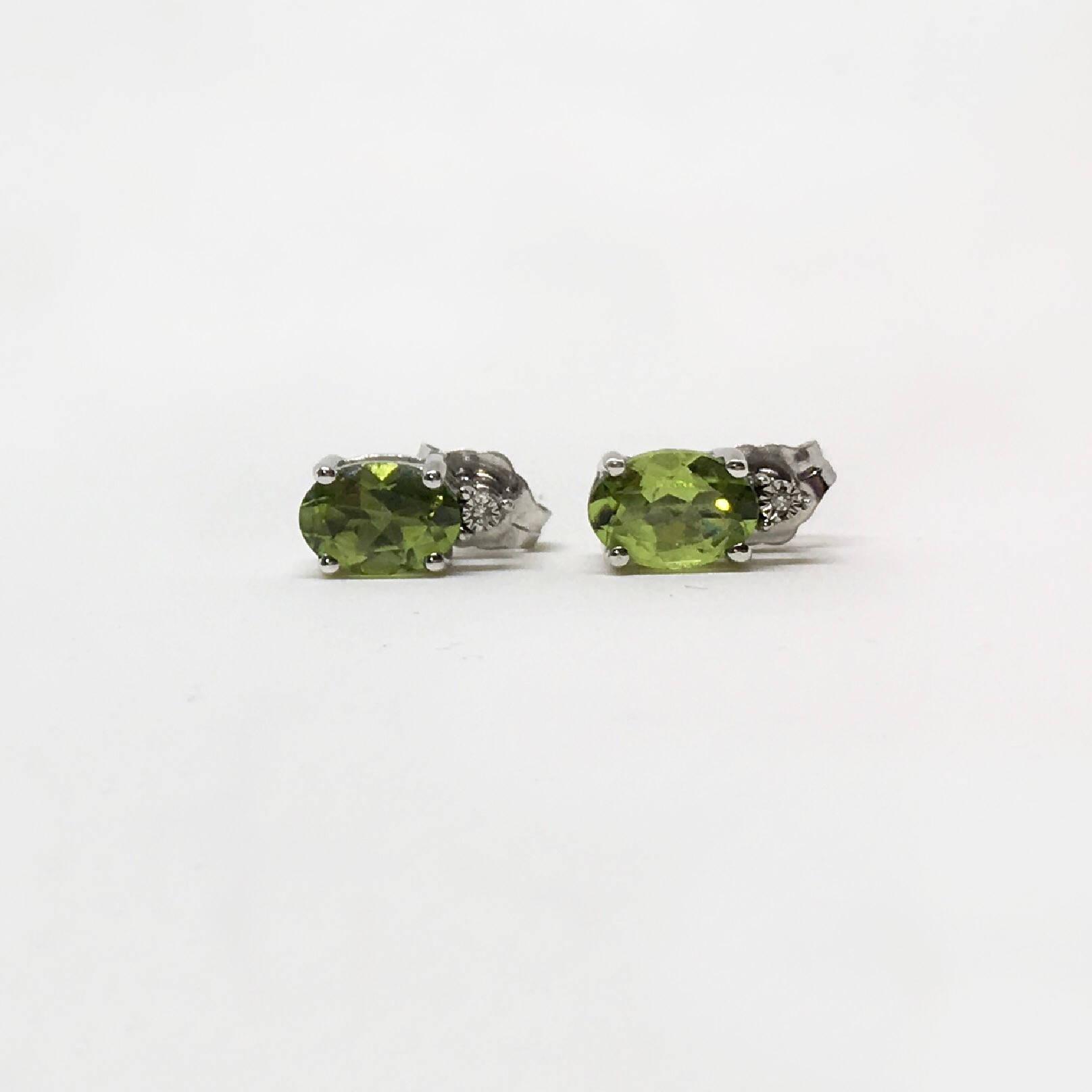 925 Silver Natural Peridot 1 80 Ct Earrings Appraised