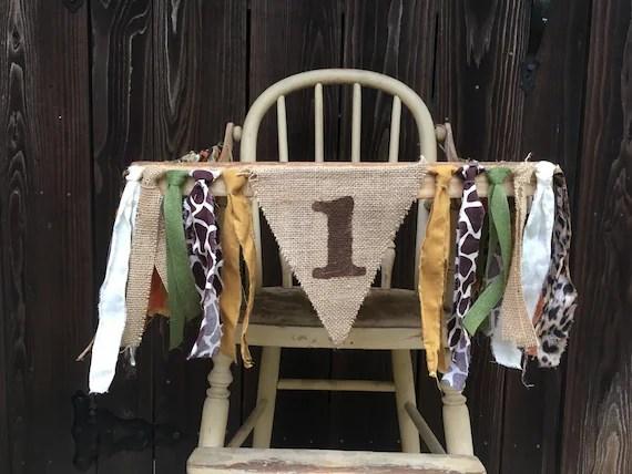 safari high chair louis dining chairs uk banner bannerjungle animal print zoo etsy image 0
