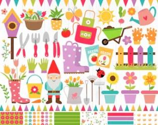 Gardening clipart Etsy