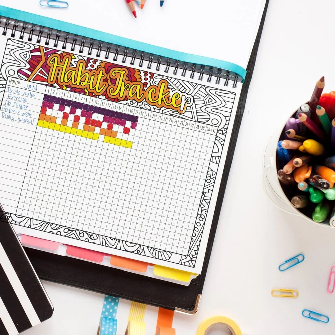 Habit Tracker Printable Monthly Habit Or Goal Tracker