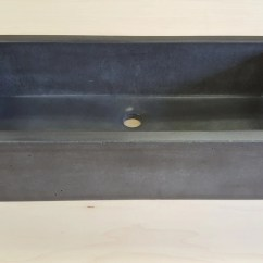 Cement Kitchen Sink Best Pull Down Faucet Concrete Etsy Rectangle Vessel The Skinny