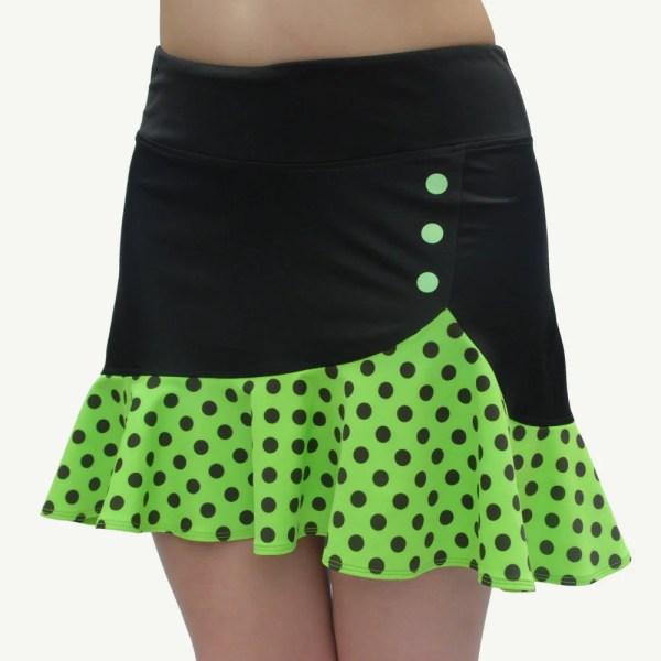 Green Ruffle Tennis Skirt Shorts Attached Golf