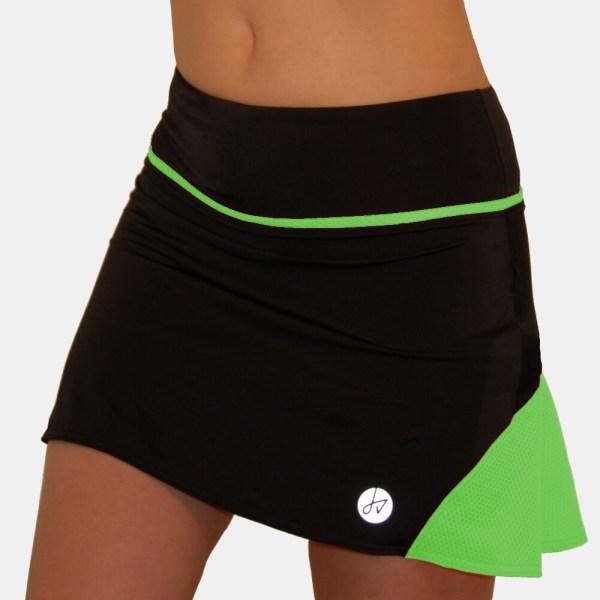 Green Tennis Skirt Shorts Attached Running Golf