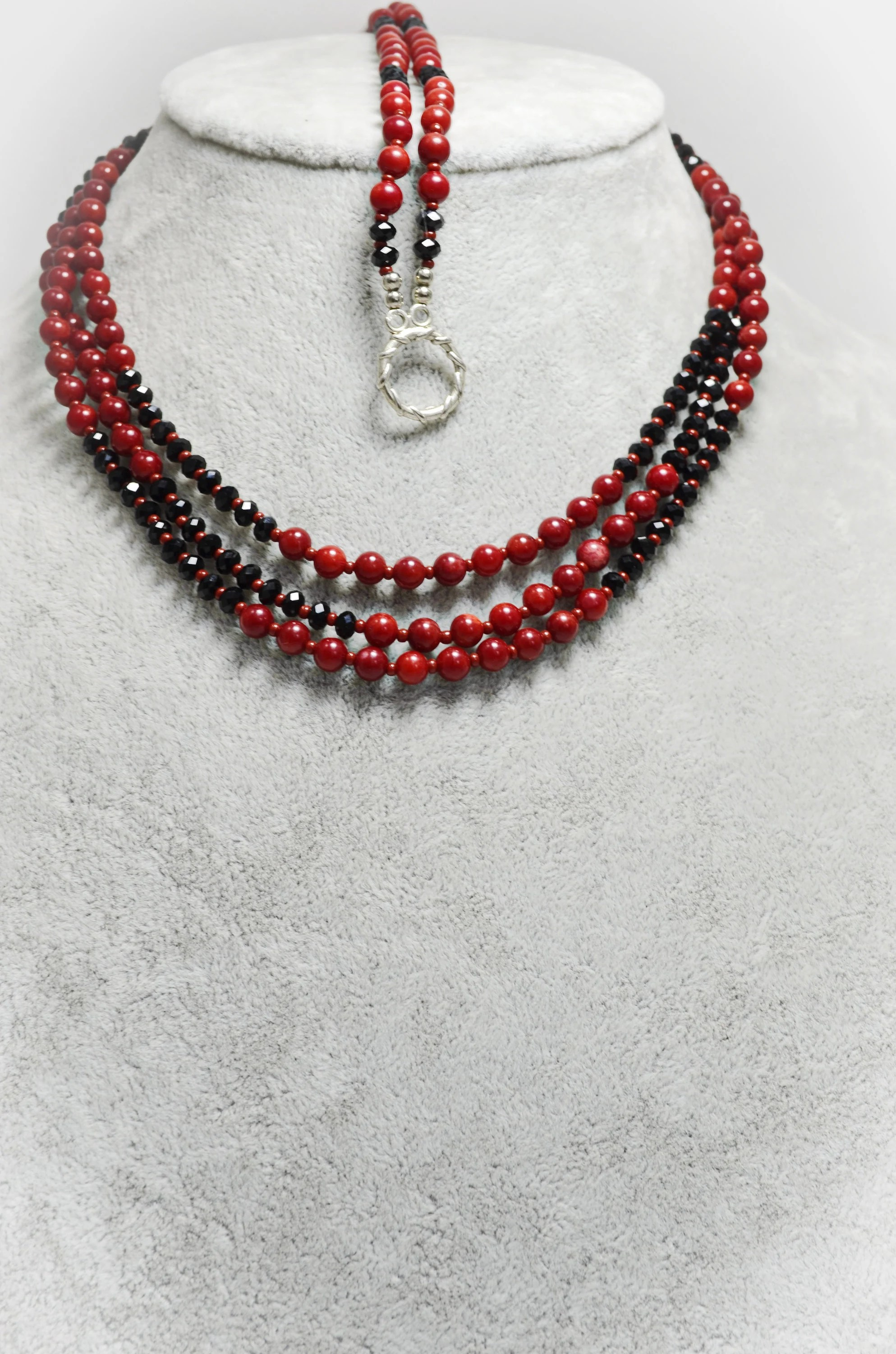 Red Jewelry Sets : jewelry, Natural, Coral, Jewelry, Black, Beaded