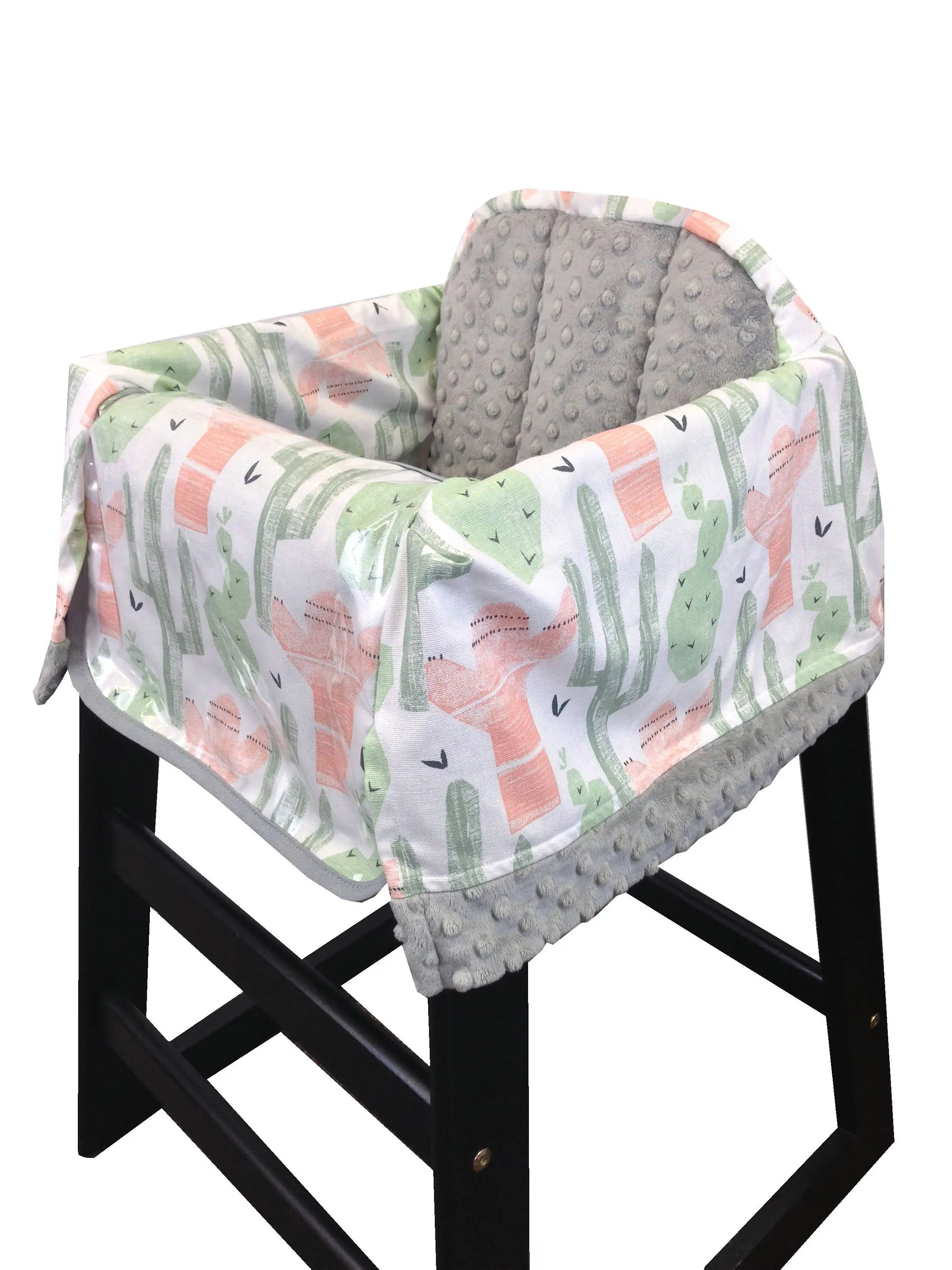 Restaurant High Chair Cover Cactus Restaurant High Chair Cover Coral Green