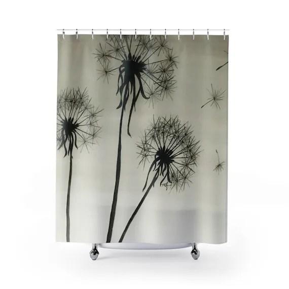 dandelions shower curtain dandelion original art handpainted design