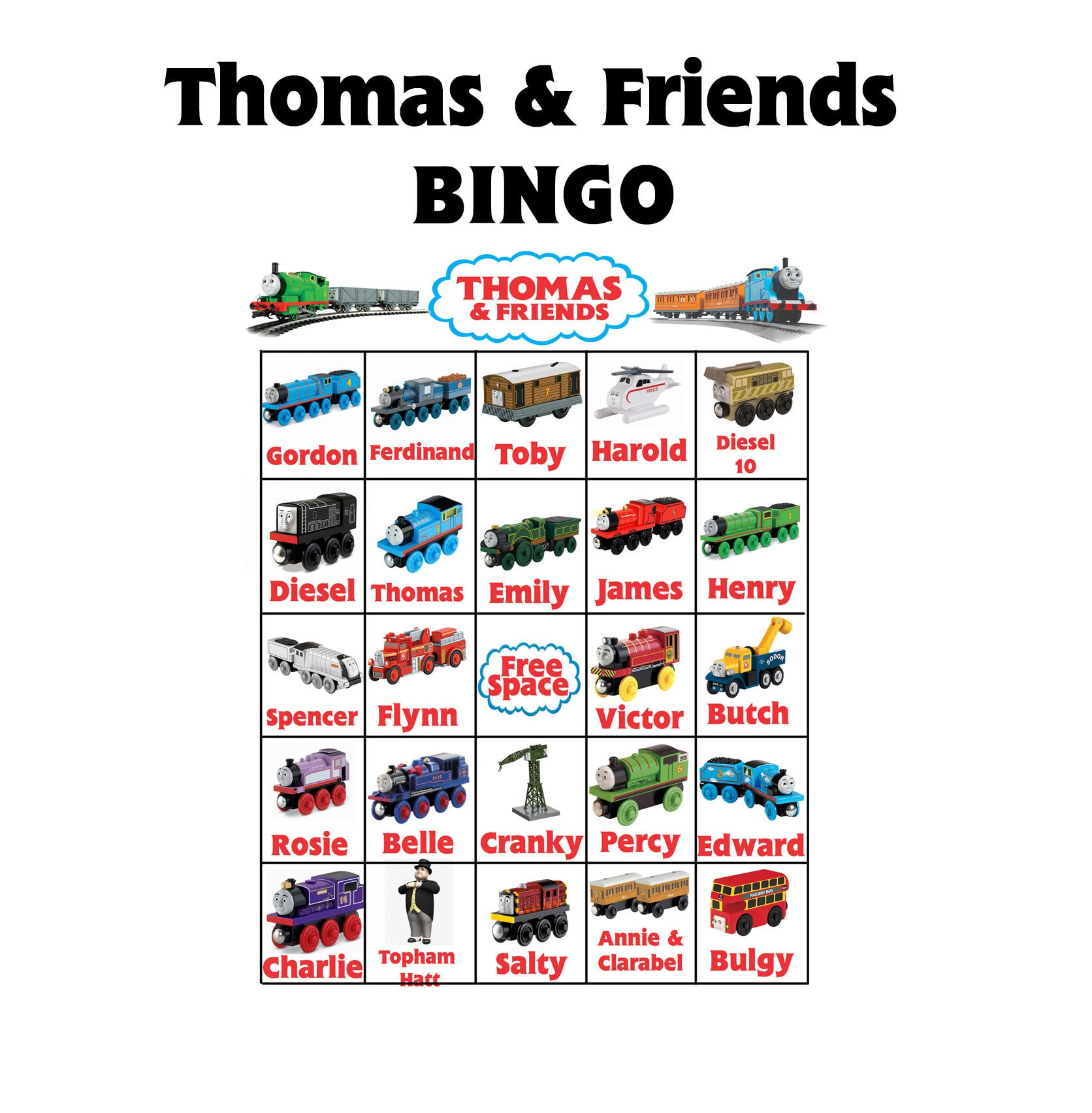 Thomas And Friends Bingo Thomas The Train Party Game
