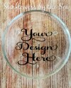 Mockup Coaster Glass Clear Round Circle Drink Etsy