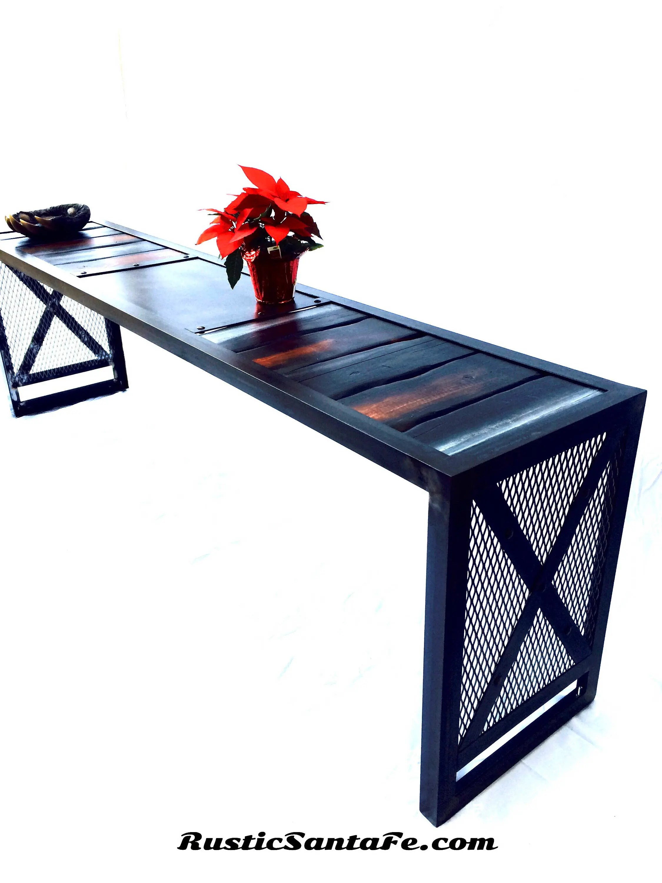 Industrial Cocktail Table Entryway Bench Midcentury Urban