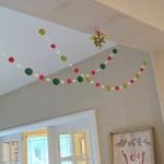 Pom Pom Christmas Garland Red And Lime Christmas Garland