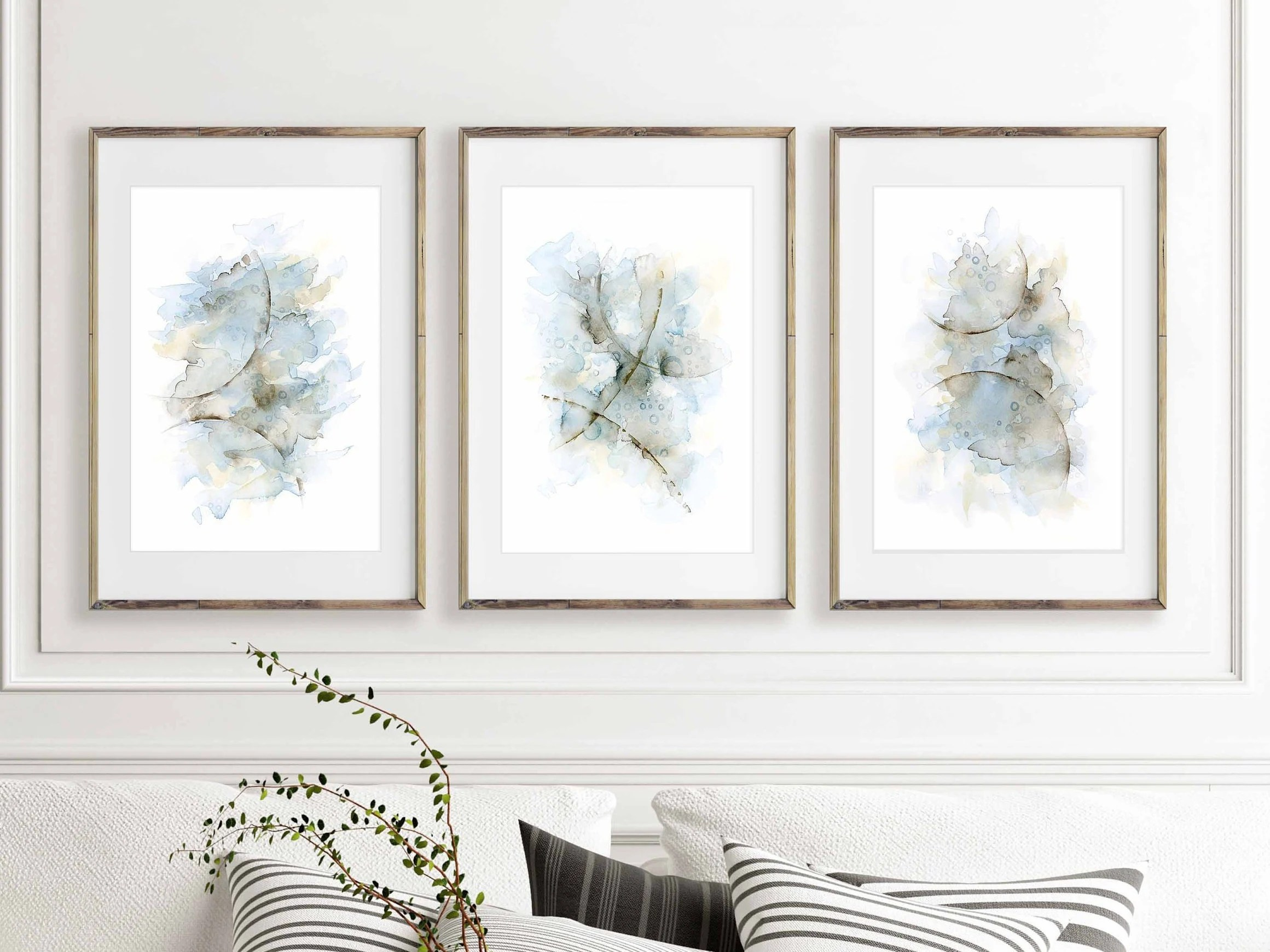 images of living room wall decor gumtree furniture brisbane art set 3 prints abstract watercolor etsy image 0