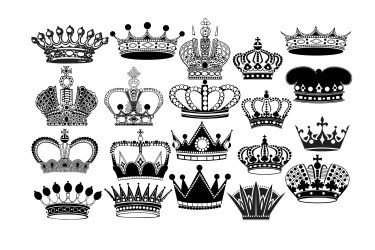 crown silhouette clipart royal queen king clip svg princess eps name digital