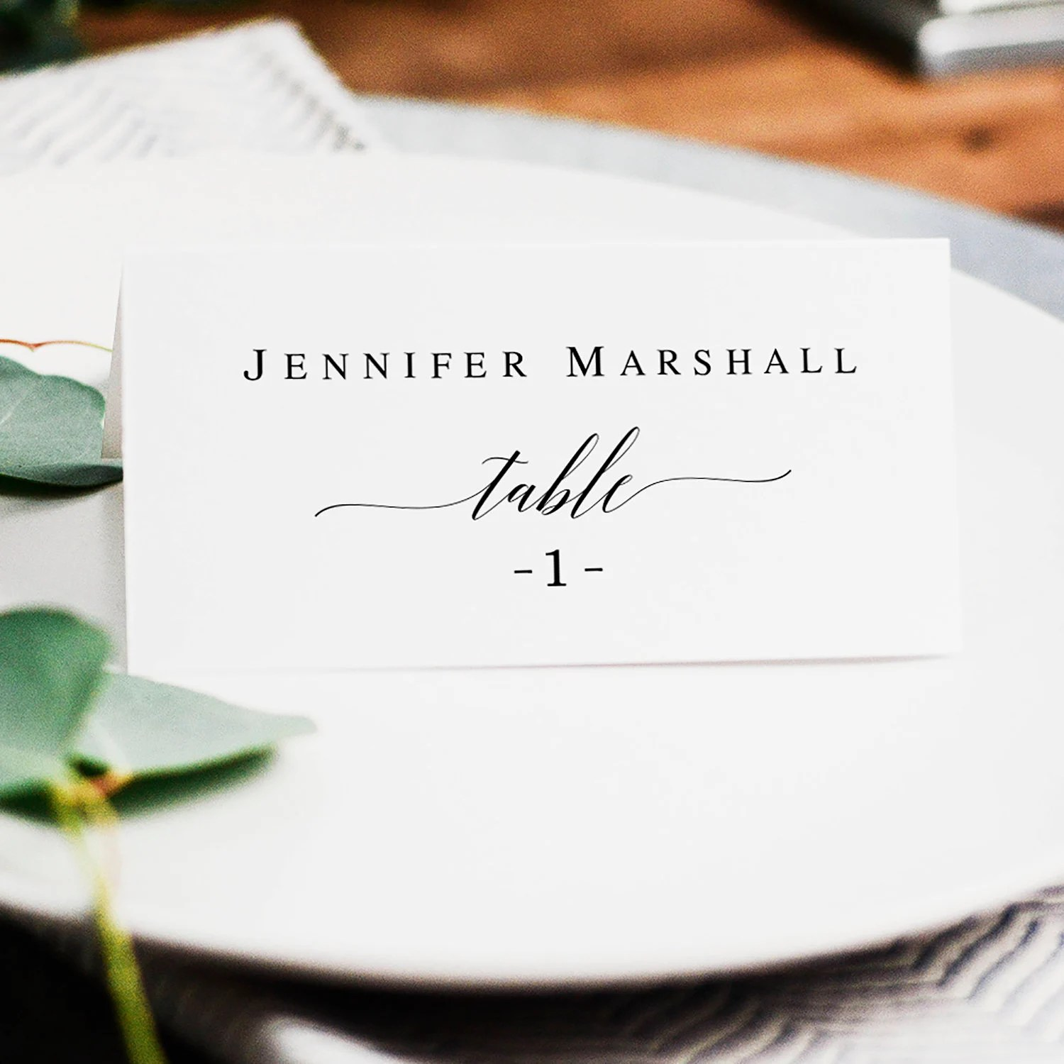 place card template etsy