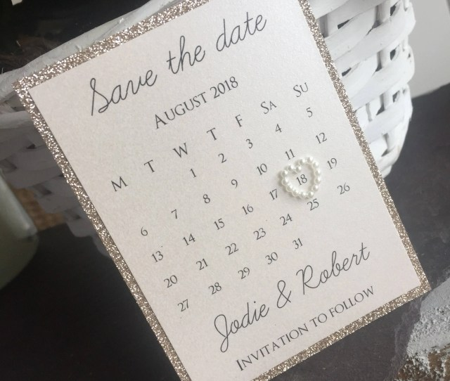 Glitter Save The Dates Save The Dates Calendar Save The Dates Wedding Invites Calendar Wedding