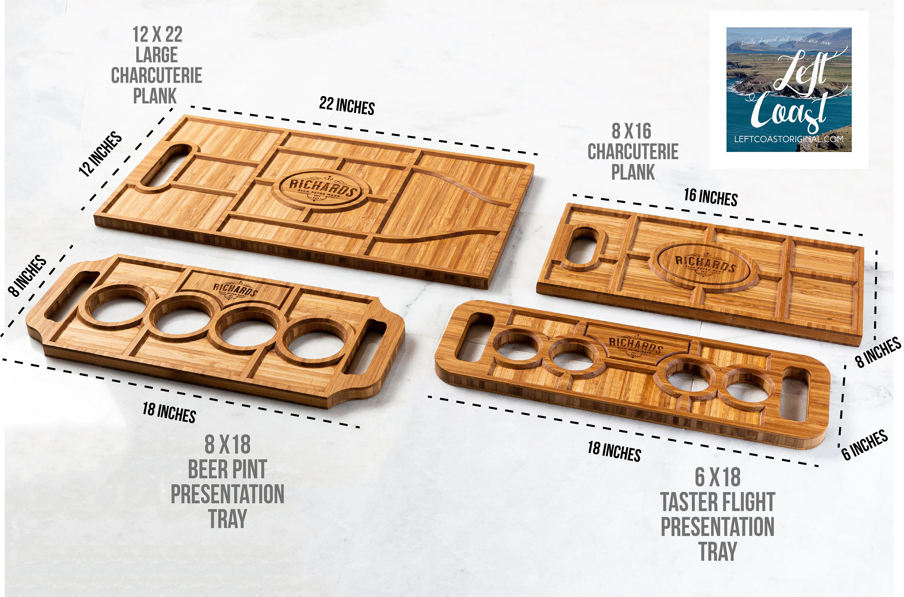 Personalized Charcuterie Planks and Beer Flights  4 Styles image 1