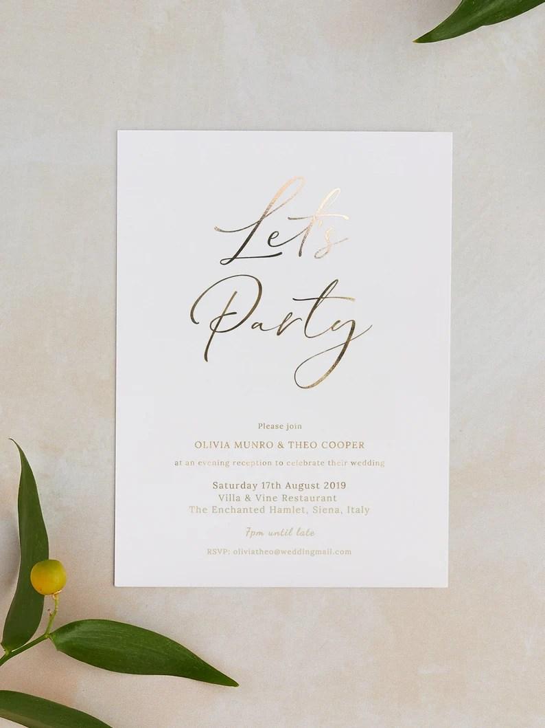 Simpele trouwuitnodigingen