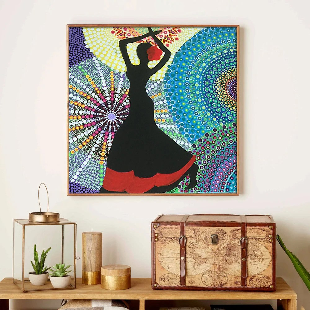mandala painting canvas art