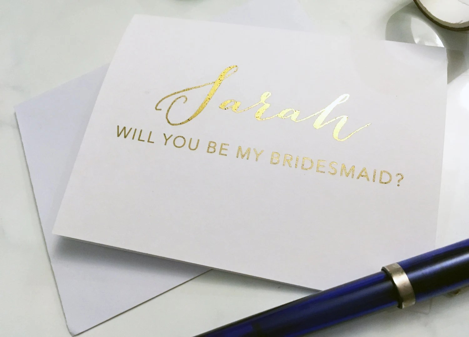 Will you be my bridesmaid maid of honor matron of honor  image 1