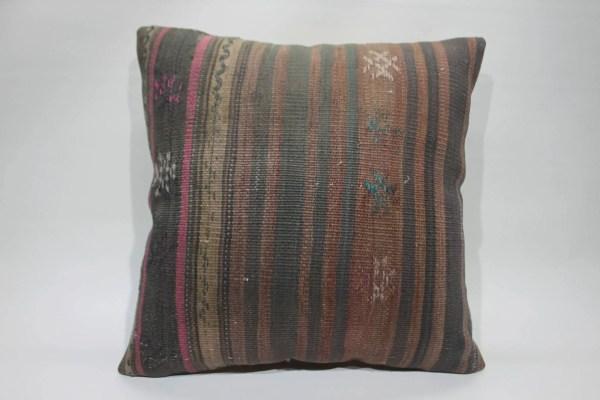 Turkish Kilim Pillow Floor Handwoven