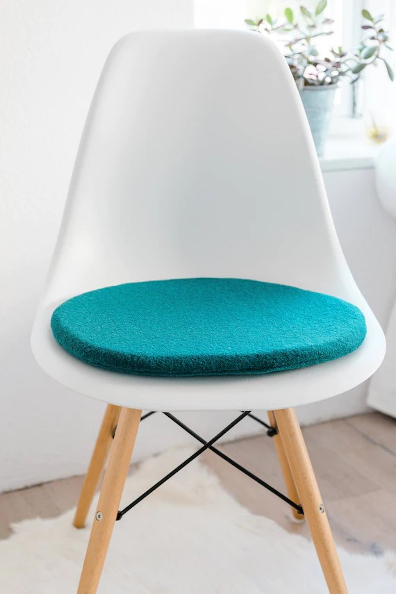 eames chair cushion cover velour seat for in petrol etsy
