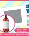 2 Liter Soda Bottle Wrapper Label Template Psd Png And Svg Etsy