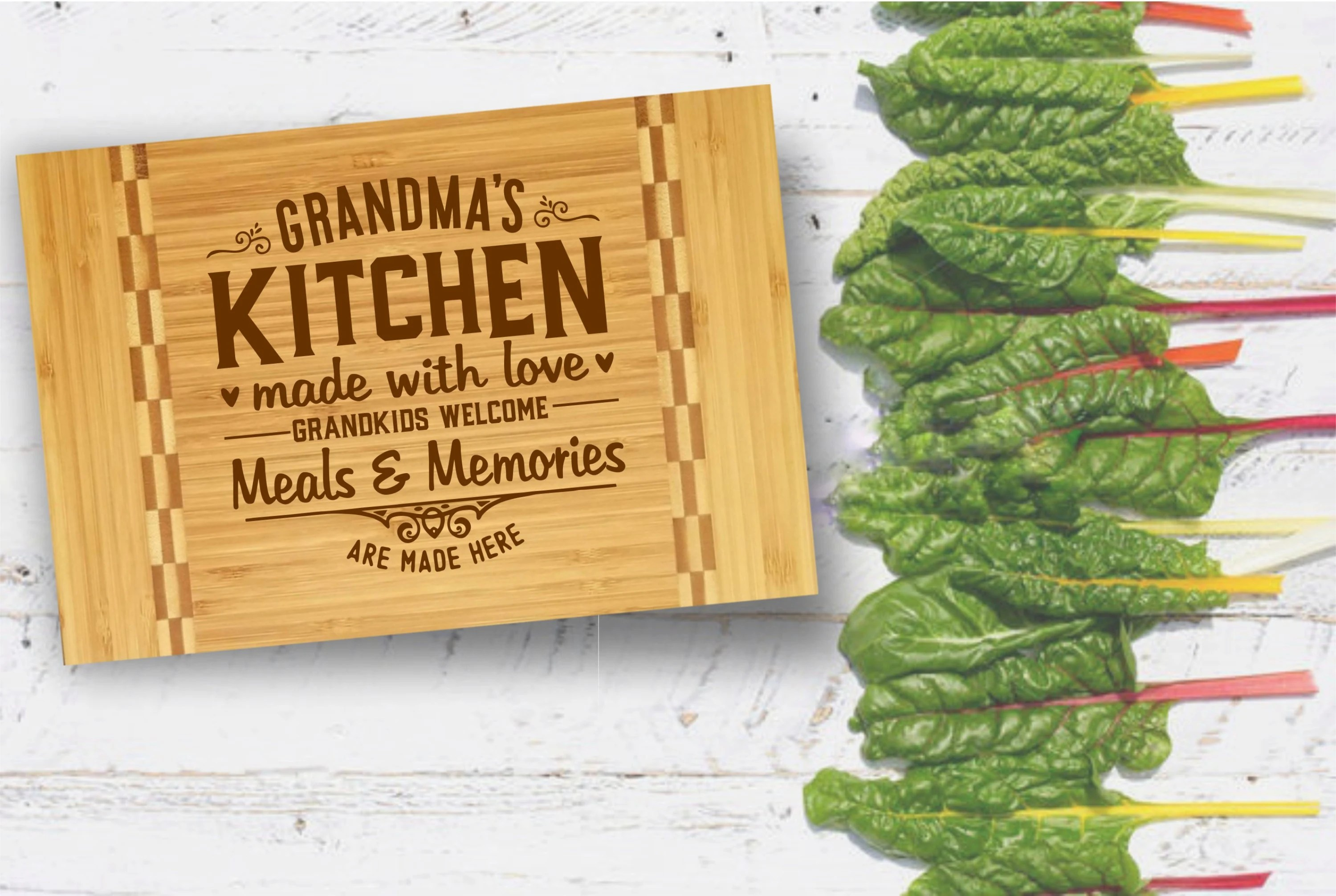 kitchen cutting board tall square table funny etsy grandma s bamboo wood custom engraved gift for mom made with love