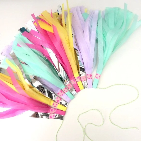 Unicorn party ideas, unicorn tassel garland