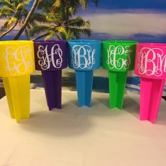Yeti Chair Accessories Joss And Main Dining Chairs Beach Spiker Monogram Name Personalized Rtic Beverage Etsy Image 0