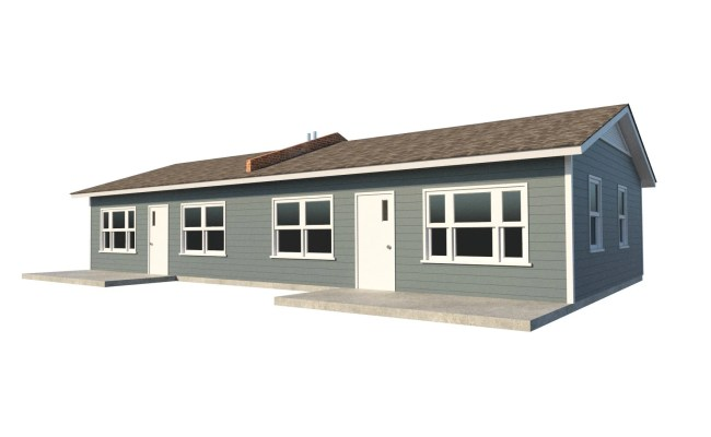 One Story Duplex House Plans Diy 1 Bedroom Tiny Home