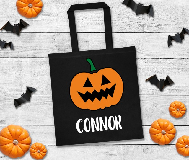 Personalized Trick Or Treat Bags Halloween Candy Bag Custom Halloween Bag