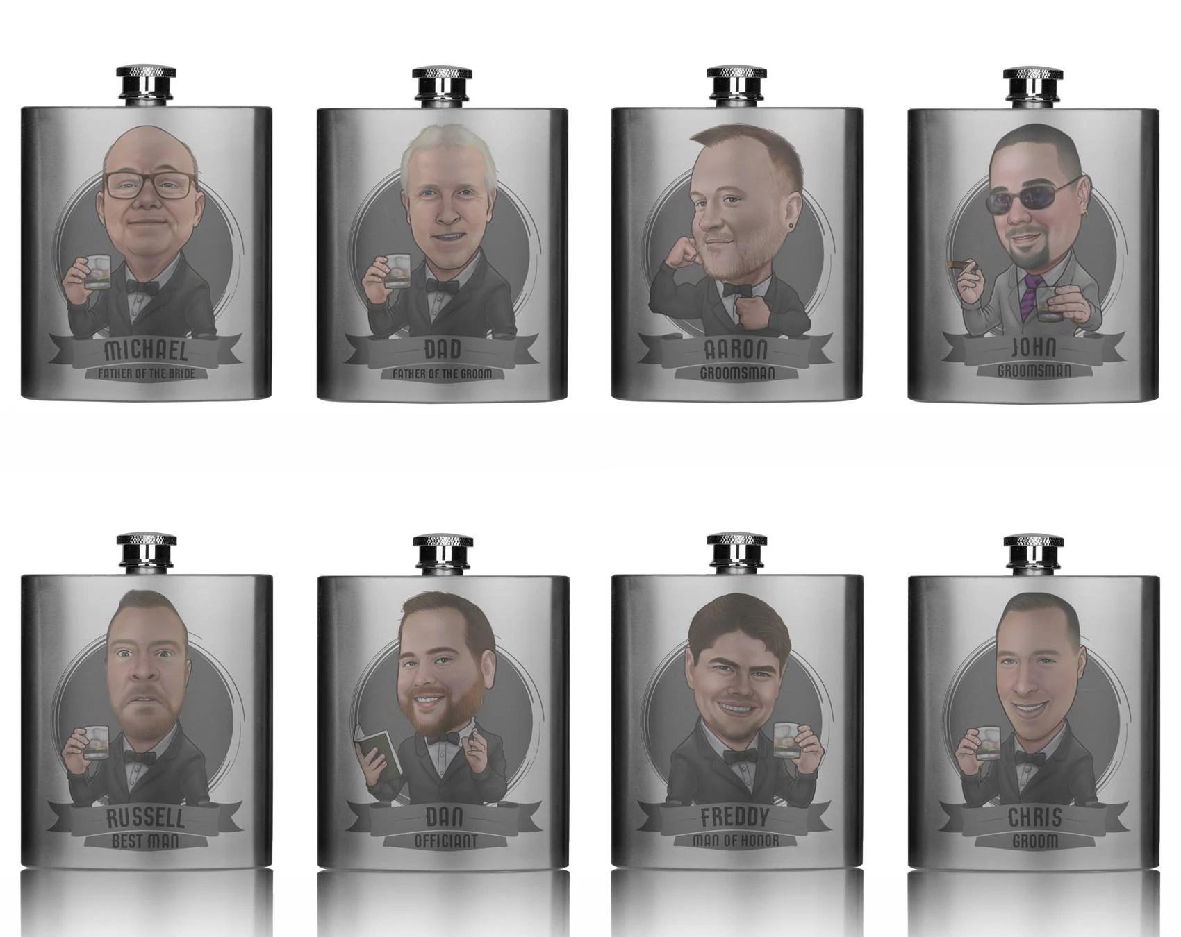 Groomsmen Gift Groomsmen Flasks Groomsmen Gifts image 1