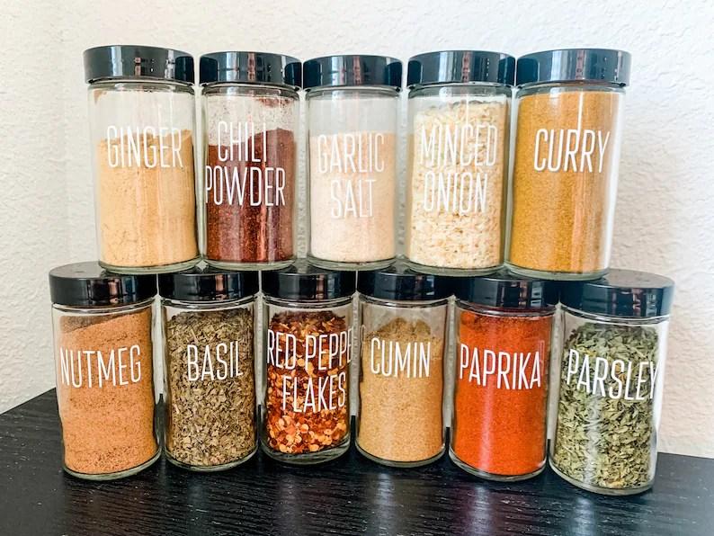 Farmhouse Kitchen Spice Jar Labels // Block Print Font // image 0