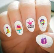 nail decals happy birthday