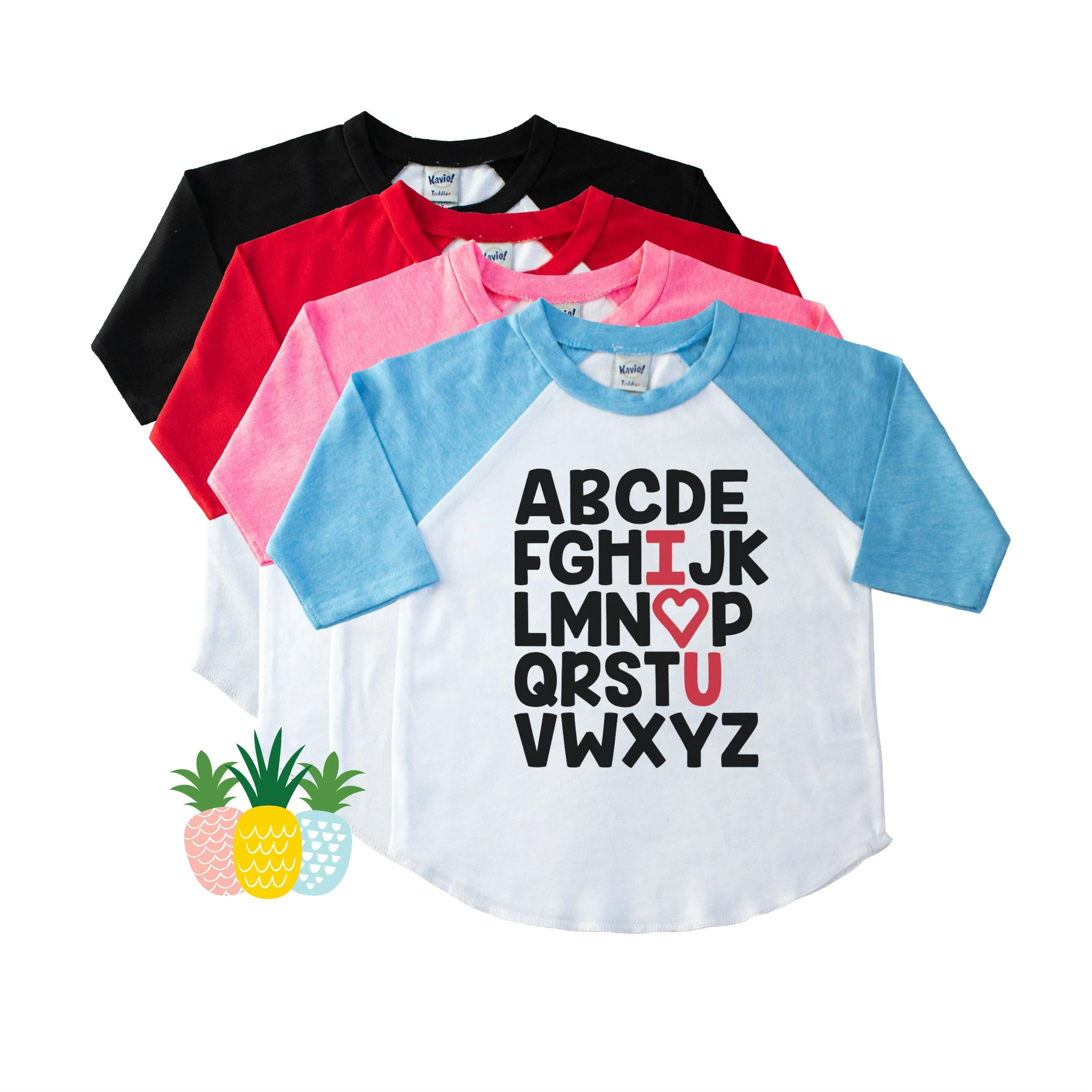 Preschool Shirt For Kids Kindergarten Shirt Alphabet Shirt