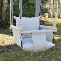 Swing Chair Sri Lanka Florida Gators Leather Office Baby Etsy Linen Ships Fast Toddler Natural Indoor First Birthday Gift Fabric
