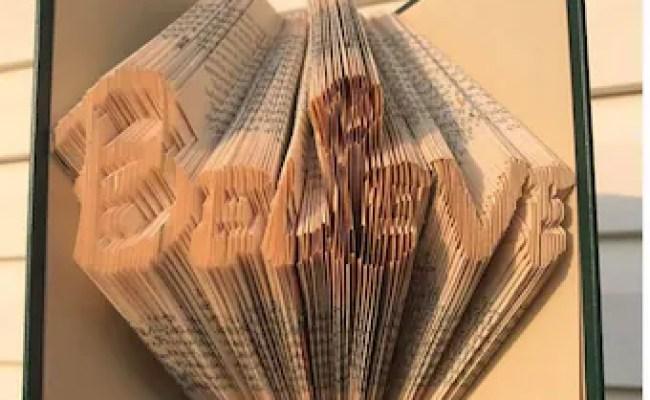 Folded Book Art Pattern Moon And Stars Pattern Nursery Decor