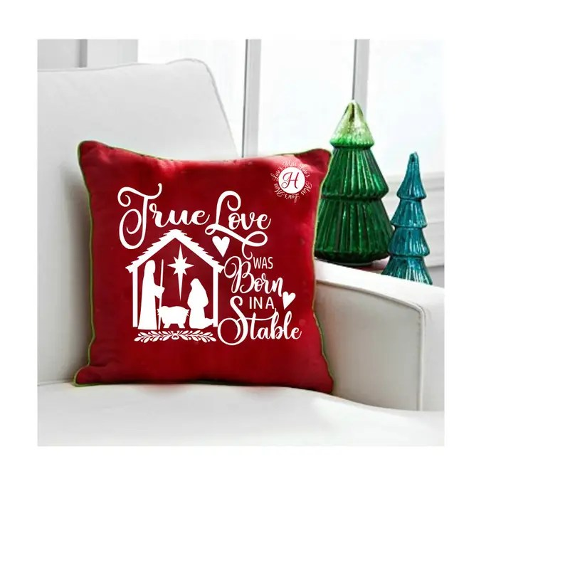 Download True love was born in a stable Christmas Nativity Svg Png ...