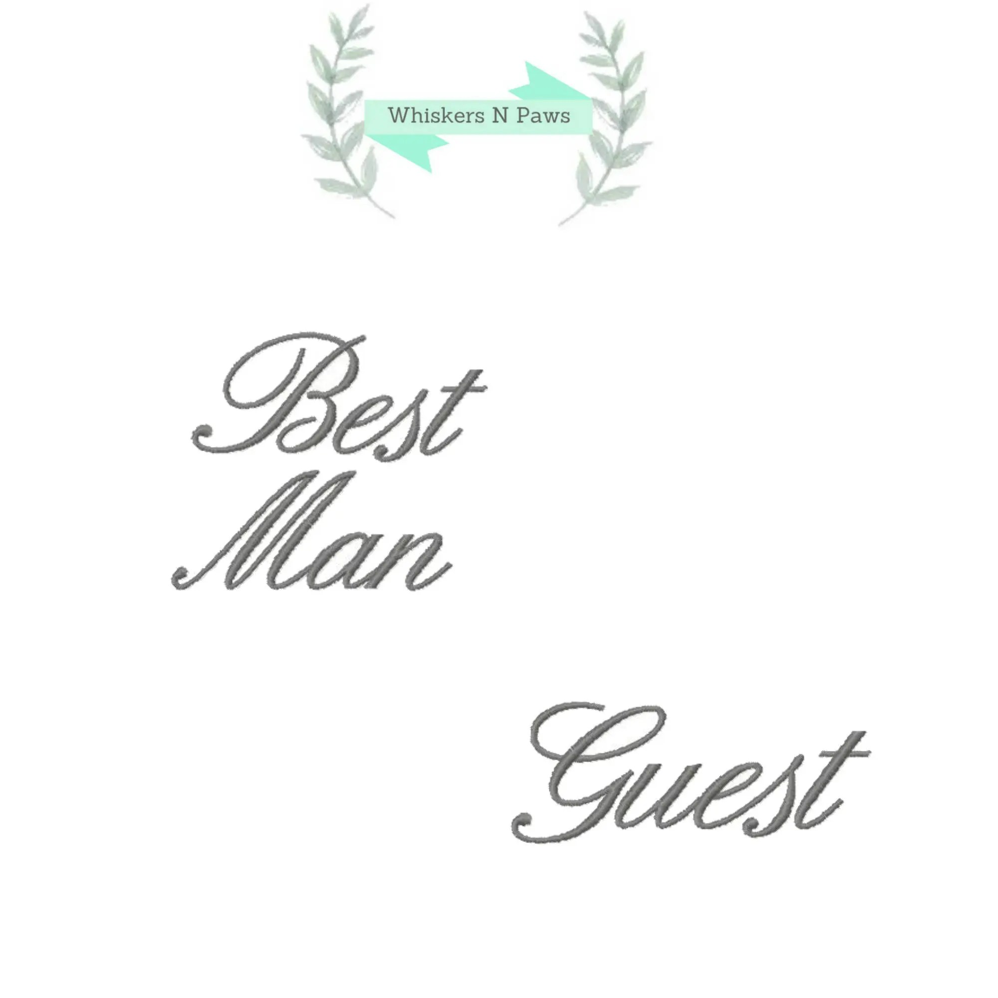 Set of 2 Wedding Bridal Party Embroidery Designs. Best Man