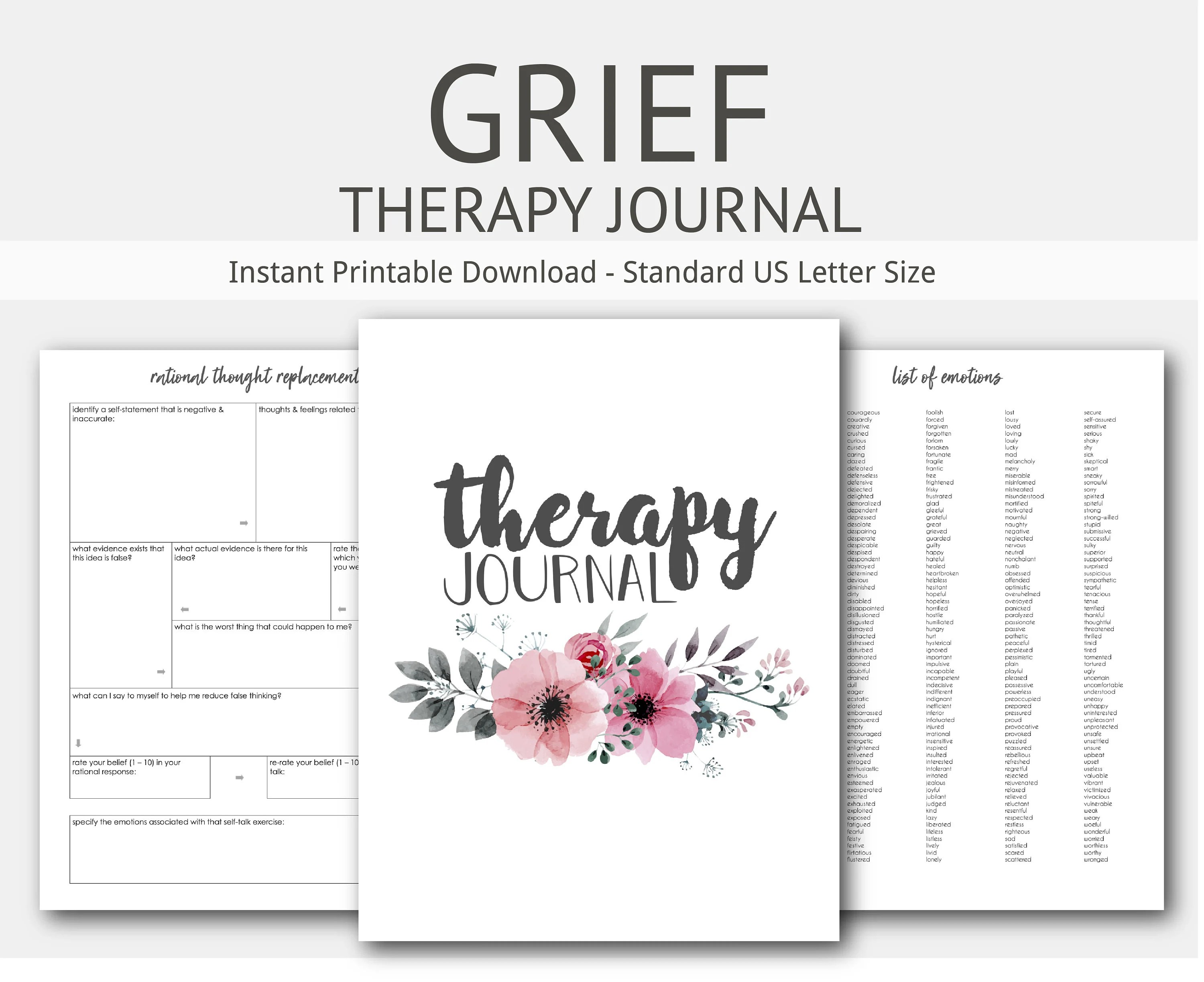 Grief Therapy Journal Mental Health Depression Anxiety
