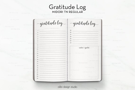 Standard TN Gratitude Journal Travelers Notebook Gratitude