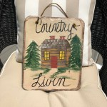 Hand Painted Slate Country Welcome Sign Cabin Decor Lake
