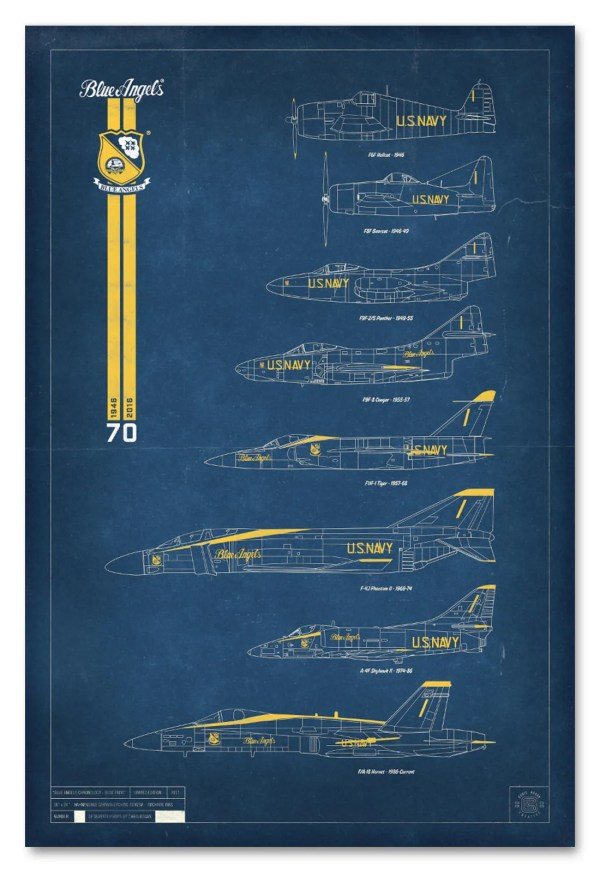 Blue Angels Chronology Print Limited Edition