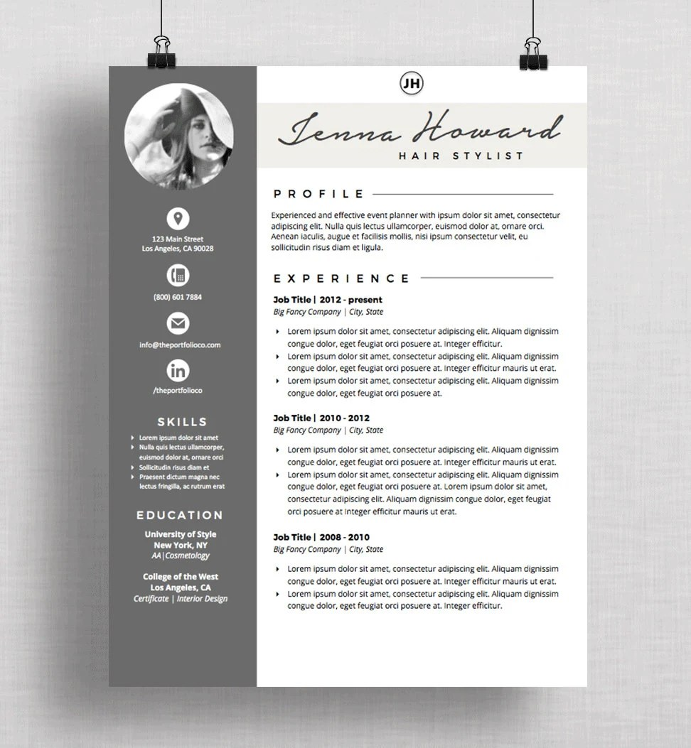 Resume CV Template and Cover Letter Creative Resume  Etsy