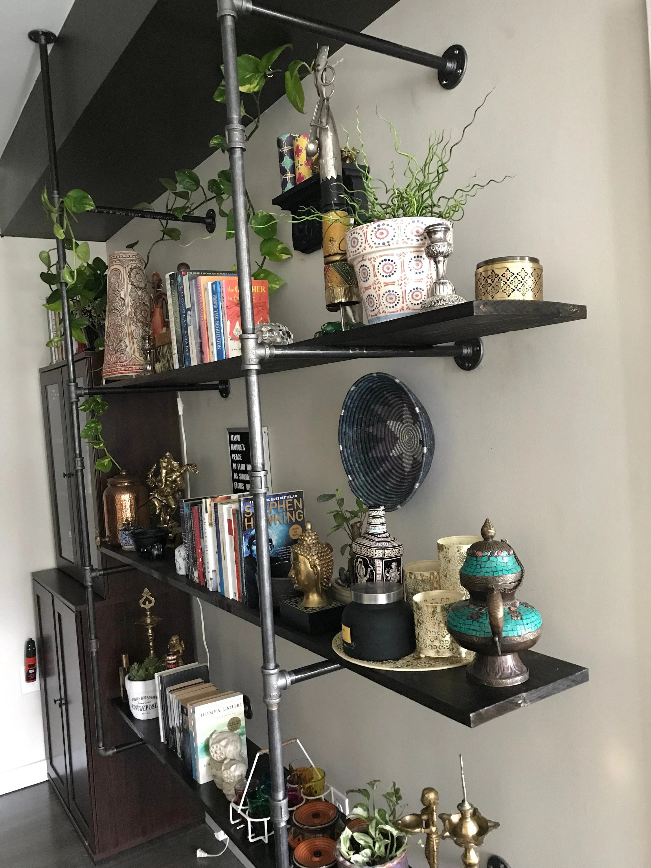 How To Clean Black Pipe For Shelving